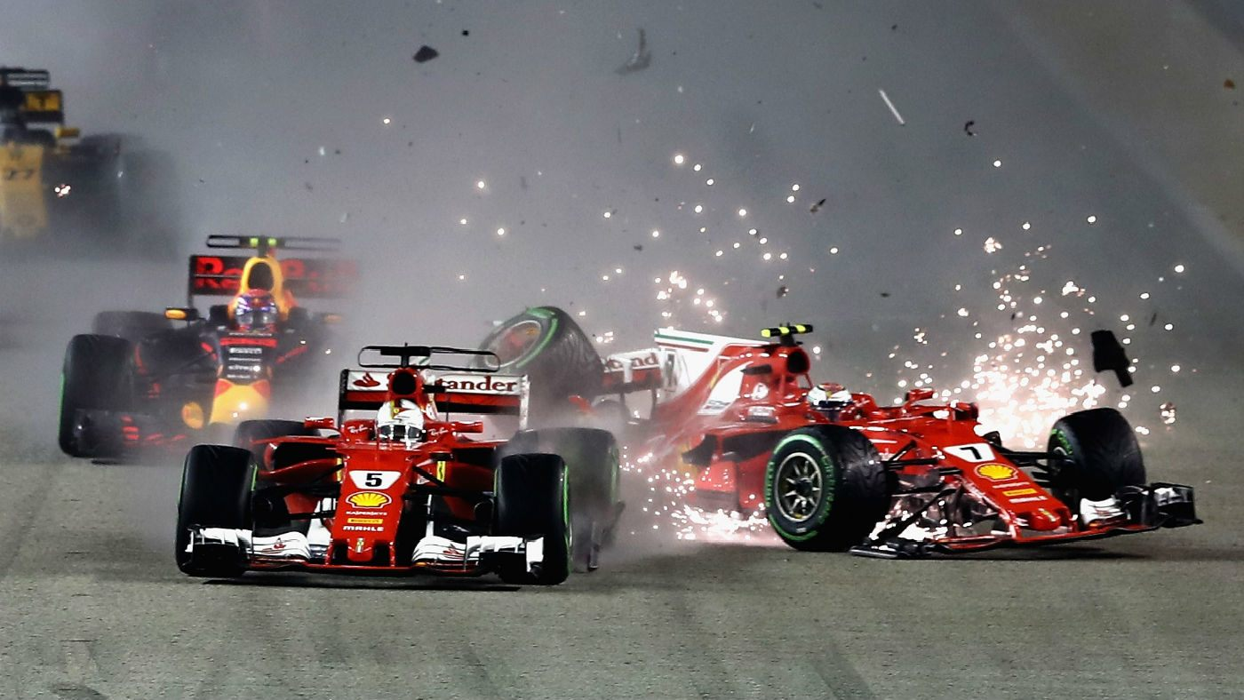 formula 1 racing cars accident