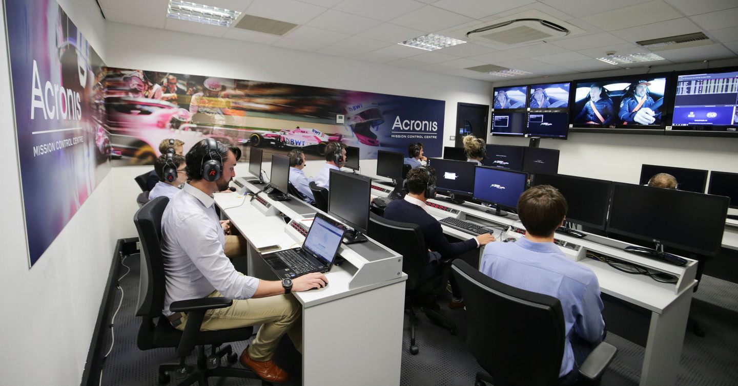 Acronis Mission Control Centre в Сильверстоуне © motorsport.tech